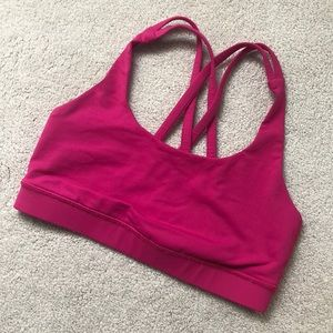Lululemon Energy Bra - Size 4 - Hot Pink